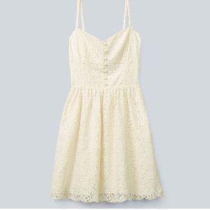 Aritizia Talula Debutante sweetheart cream dress
